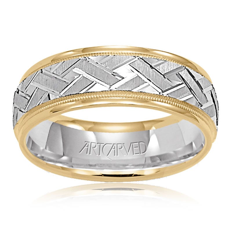 White & Yellow Gold Comfort Fit Band
