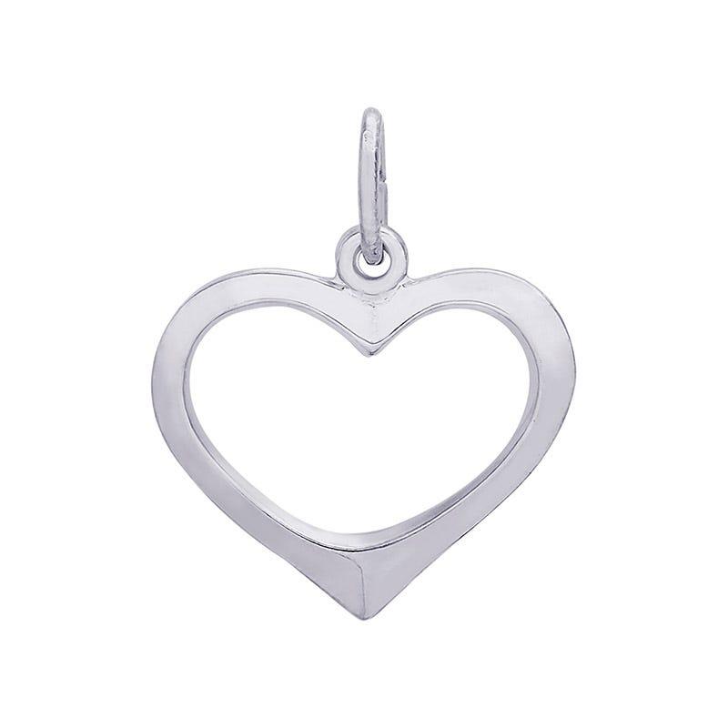 Open Heart Sterling Silver Charm