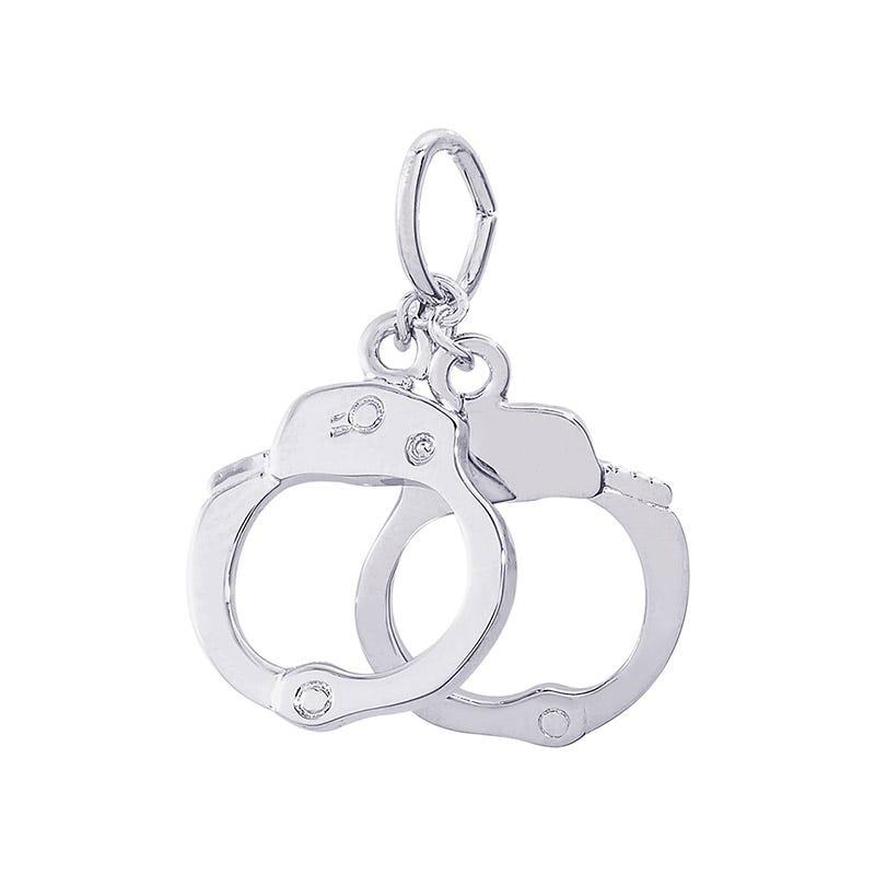 Handcuffs Sterling Silver Charm