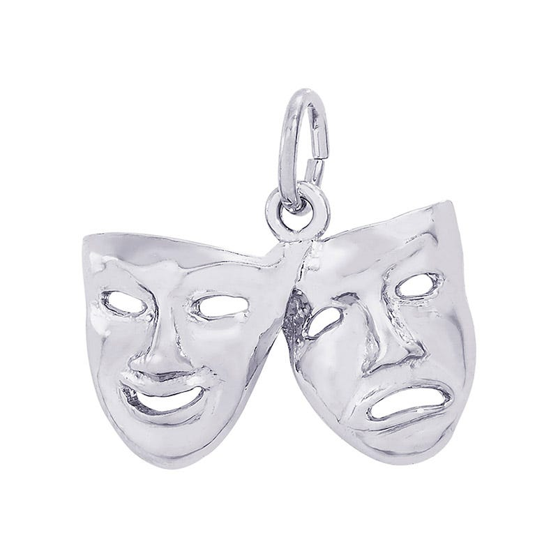 Comedy & Tragedy Sterling Silver Charm