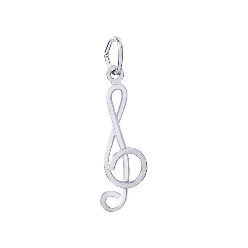 Treble Clef Sterling Silver Charm