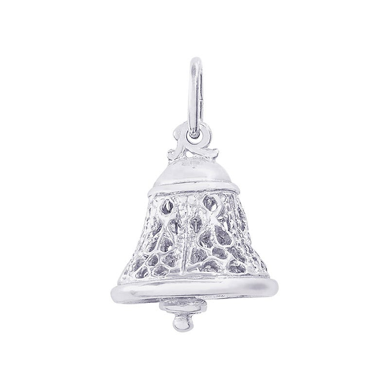 Filigree Bell Sterling Silver Charm