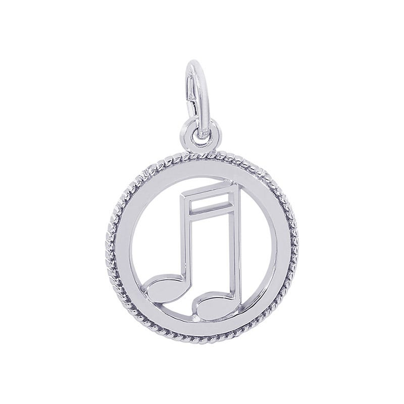 Music Sterling Silver Charm