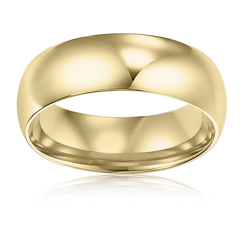 Men's 6mm Comfort Fit Wedding Band in 14k Yellow Gold Size 11