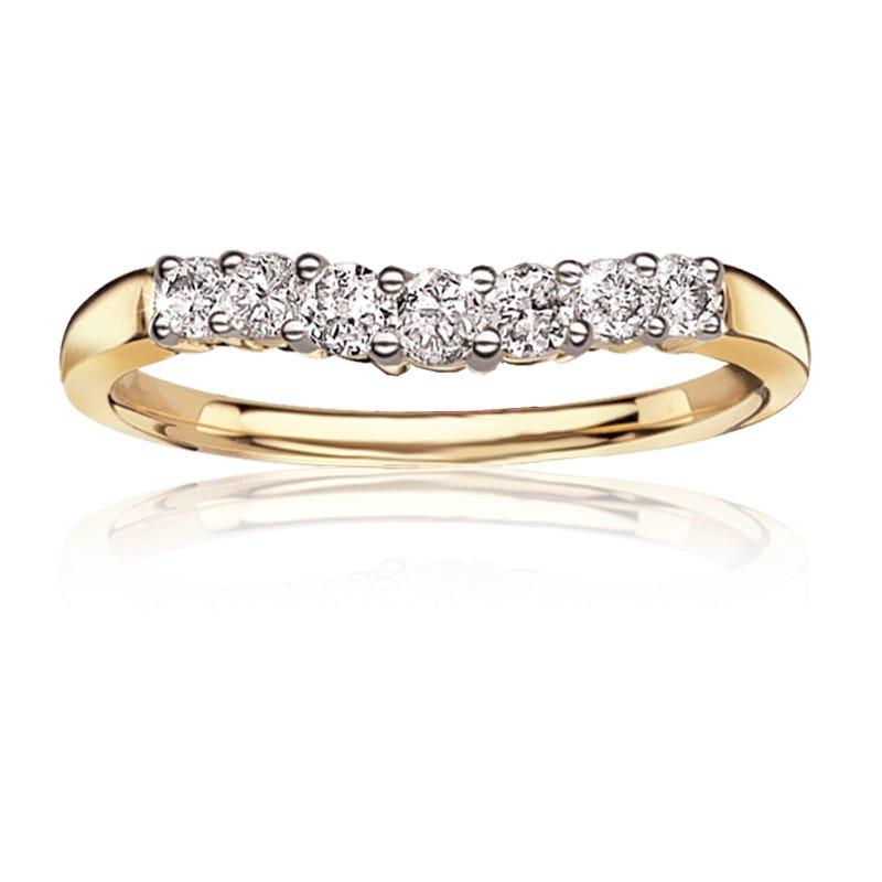 Diamond 1/3ct. t.w. Brilliant-Cut Anniversary Band in 14k Yellow Gold