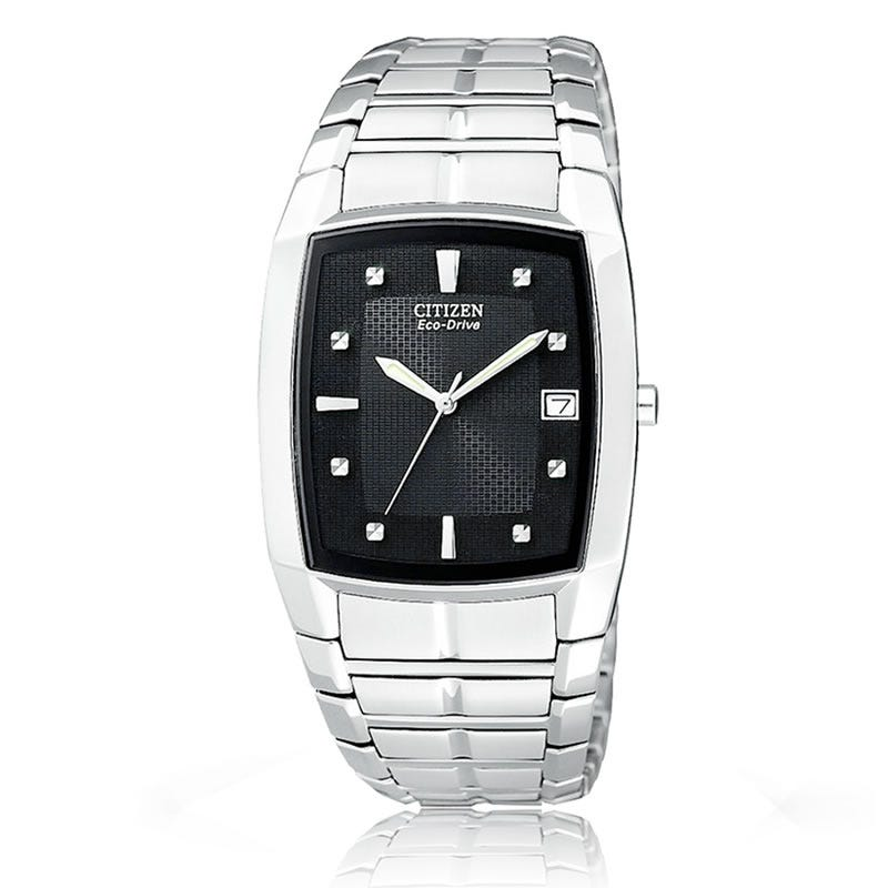 CITIZEN Eco-Drive Men's Bracelet Tonneau Shaped