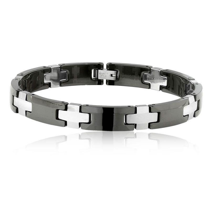 Tungsten & Ceramic Link Bracelet