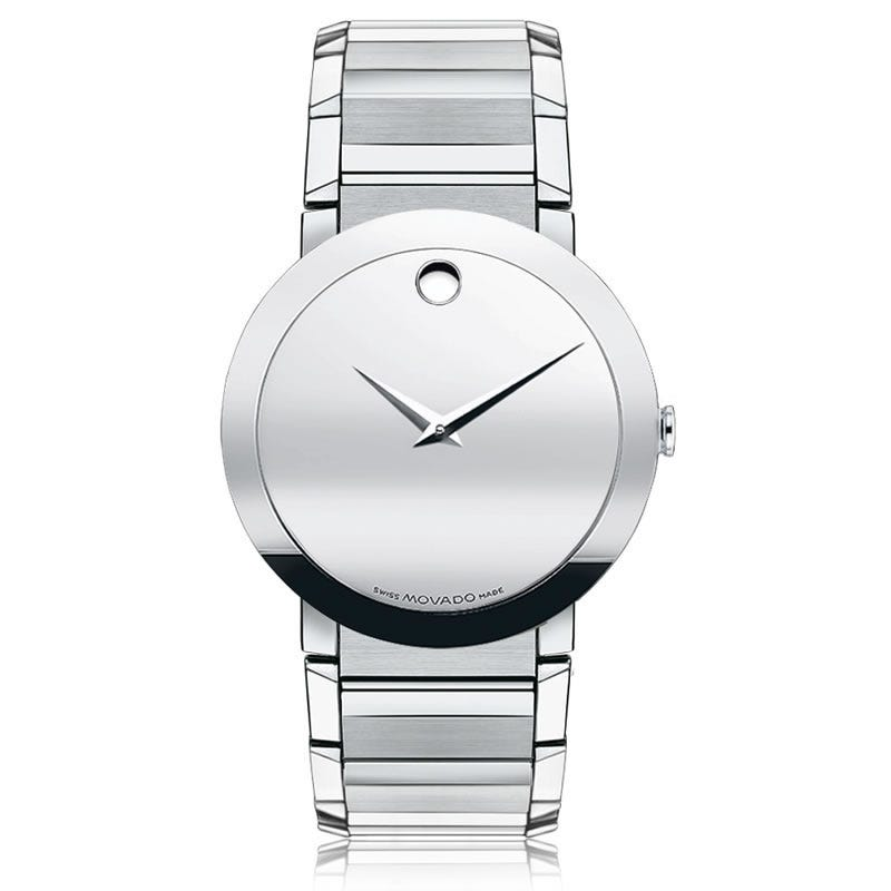 Movado Sapphire™ Men's Watch 38mm Silver Mirror 606093