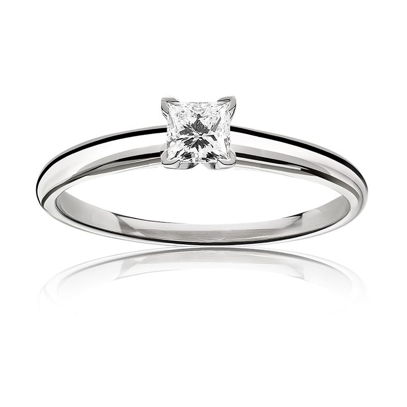 Diamond Princess-Cut ½ct. Classic Solitaire Engagement Ring