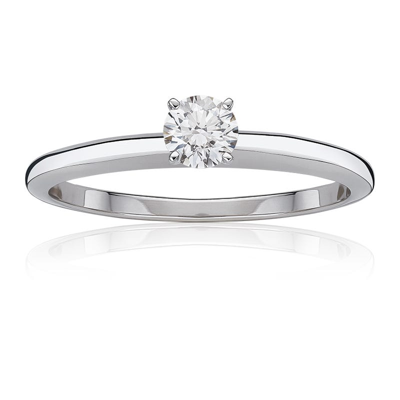 Lab-Crafted Diamond 1/2ct. Classic Round Solitaire Engagement Ring