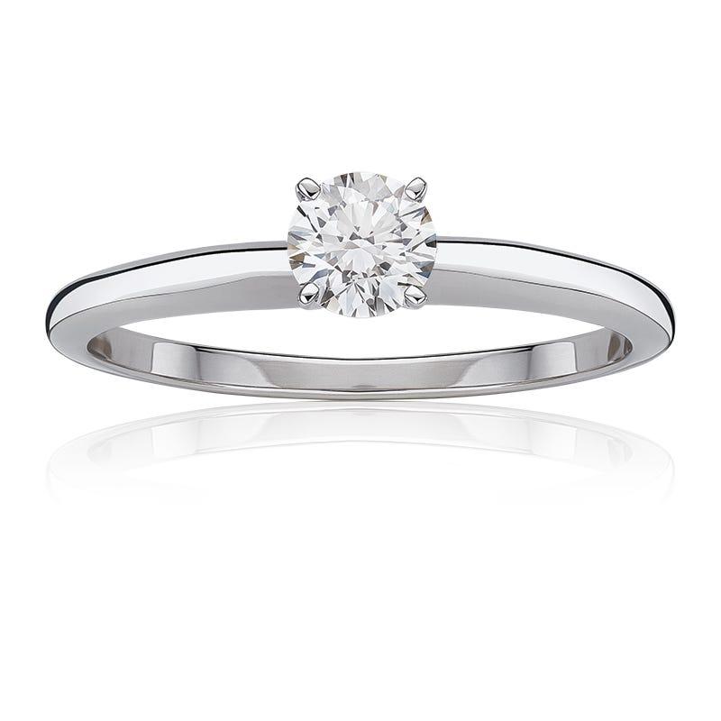 Diamond Round ¾ct. Classic Solitaire Engagement Ring
