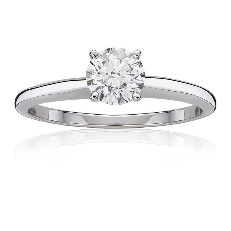 Lab-Crafted Diamond 7/8ct. Best Classic Round Solitaire Engagement Ring