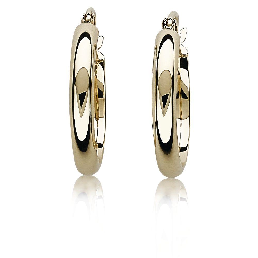Polished Petite 14k Yellow Gold Hoop Earrings