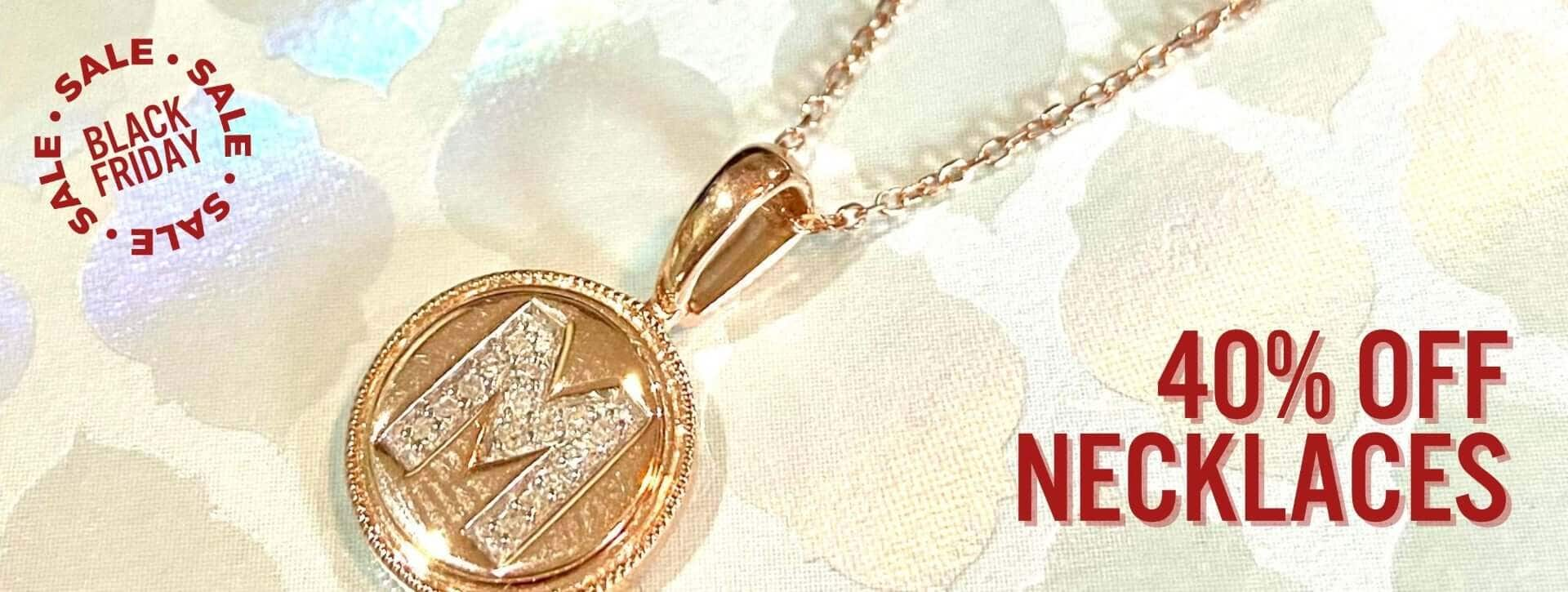 40% off necklaces