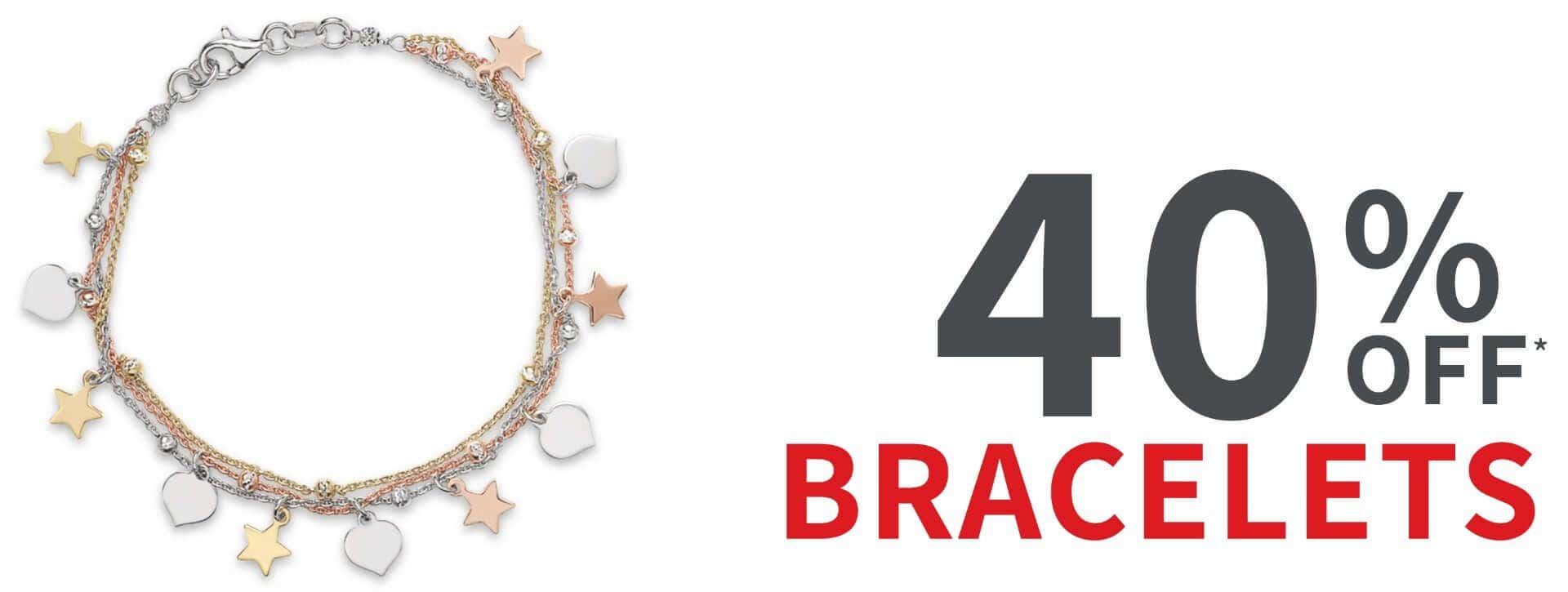 40% off bracelets