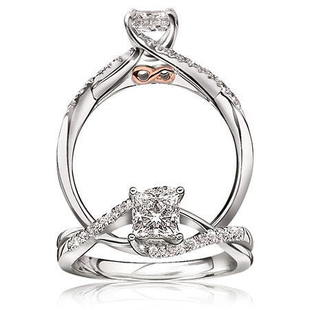 Infinity Princess-Cut Engagement Ring ¾ ct. T.W.