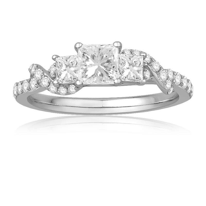 Ecoura Three Stone Princess-Cut Twist Engagement Ring in 14k White Gold - See more at: https://rogersandhollands.com/ecoura-three-stone-princess-cut-twist-engagement-ring-in-14k-white-gold#sthash.aZElEz4V.dpuf