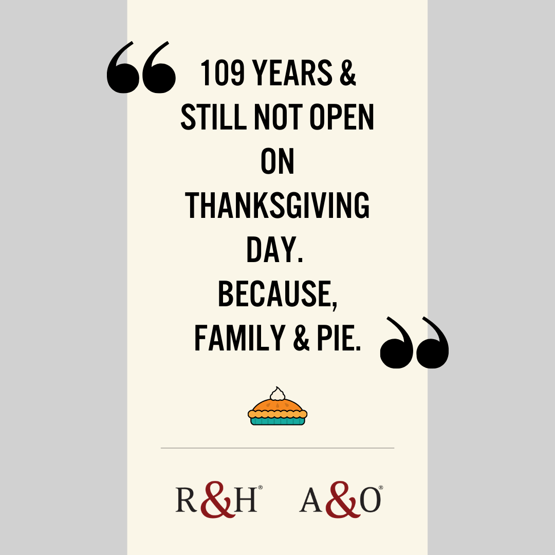 Closed, Thanksgiving Day