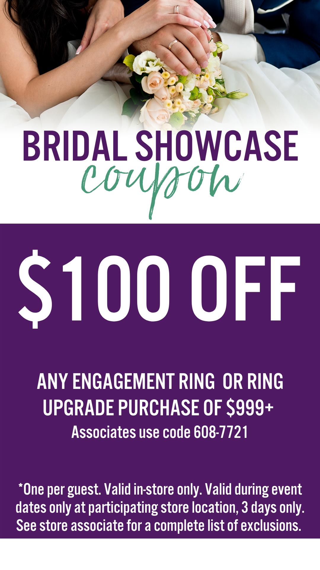 Bridal Showcase, Mobile Insider Coupon