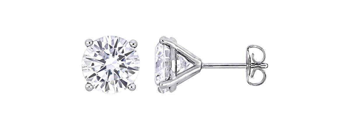 moissanite stud earrings