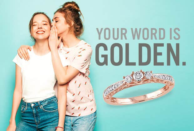 Rose Gold Promise Rings