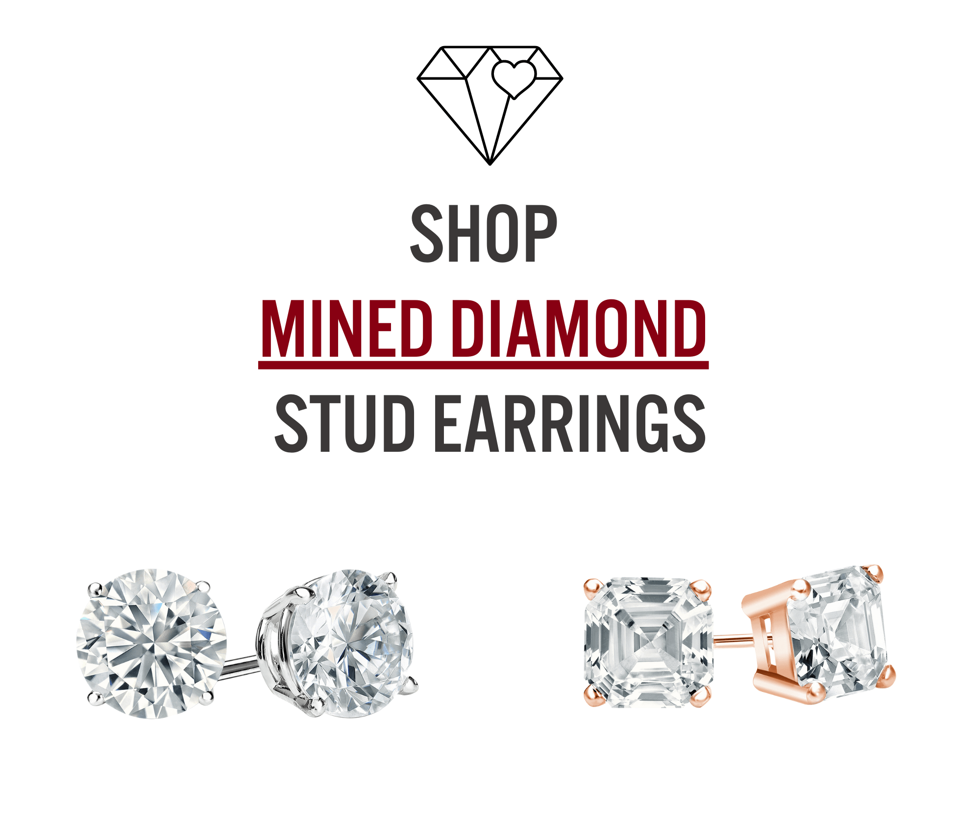 mined diamond earrings